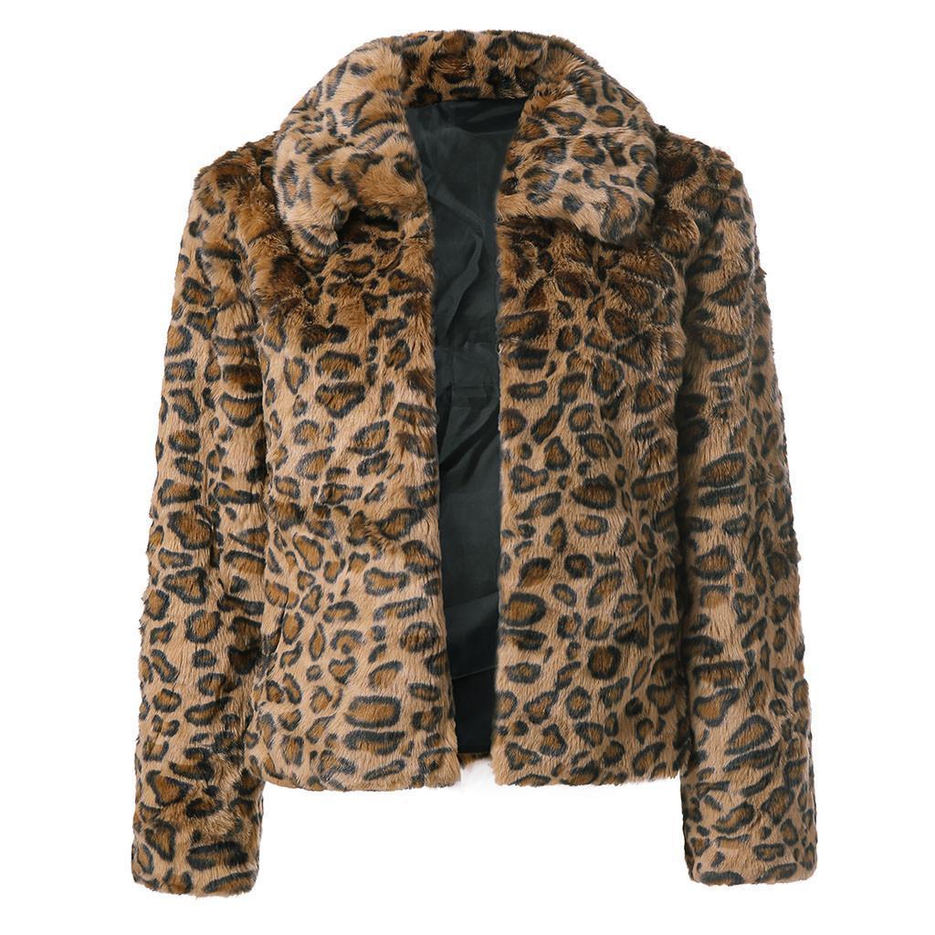 2019 New Jackets Parka Womens Leopard Print Artificial Coat Jacket Winter Parka Outerwear Casual Windbreak Jackets Men