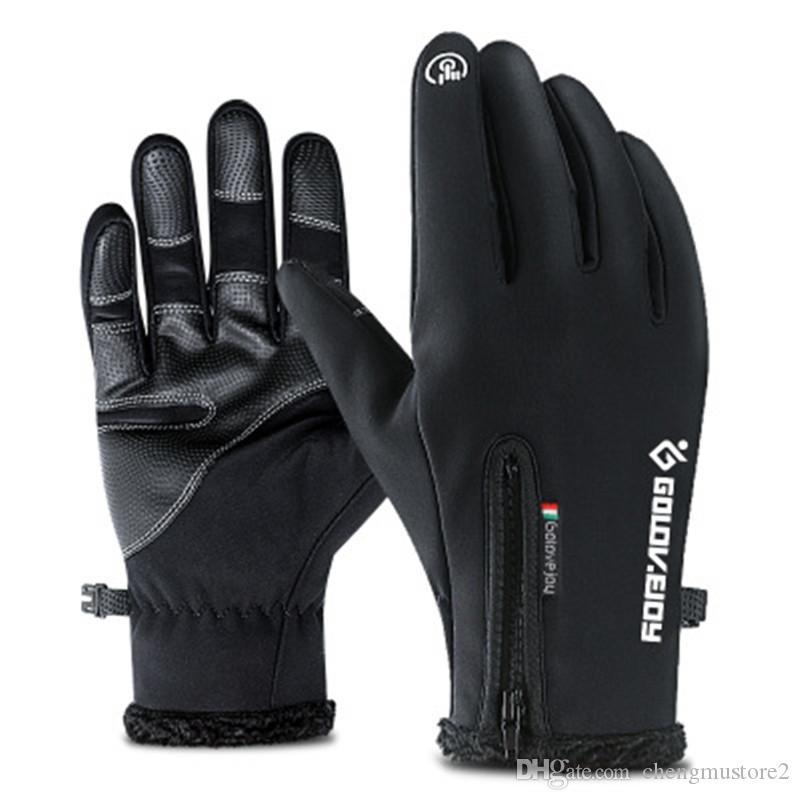 Unisex Outdoor Waterproof Touchscreen Gloves Warm Windproof Riding Fleeced Glove