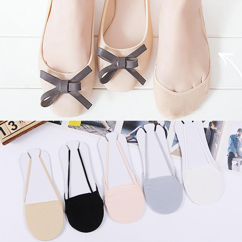 Half Sole Boat Sock Ladies Strappy Invisible Seamless Fish Mouth Cotton Socks Women Summer Fashion Thin Non-Slip High Heels Sock