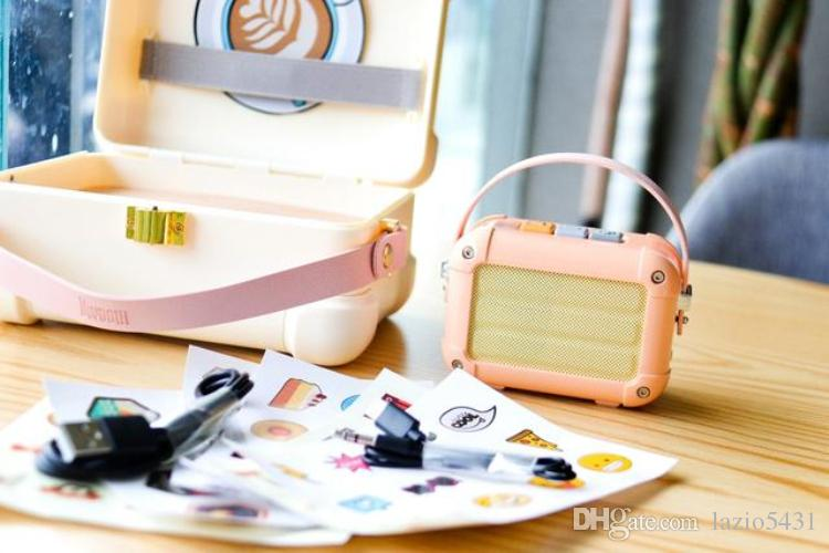 Новый Divoom Macchiato Bluetooth Беспроводной динамик очарование розовый металл Радио ручной портативный из двери музыкальный плеер для девочки