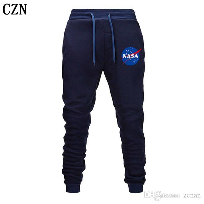 Fitness Sendero Harem NASA diseñador de los hombres Fitness Deportivo pantalones elásticos de algodón de los hombres Cuerpo Ingenieros del basculador al aire libre EL-5