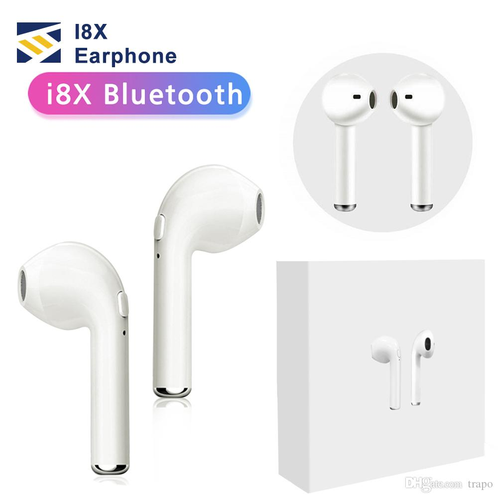 I8X Wireless Bluetooth Headphones mini TWS air Headset Charger Box In-Ear Earbuds Earphone pods with Mic stereo For iphone xs max smartphone