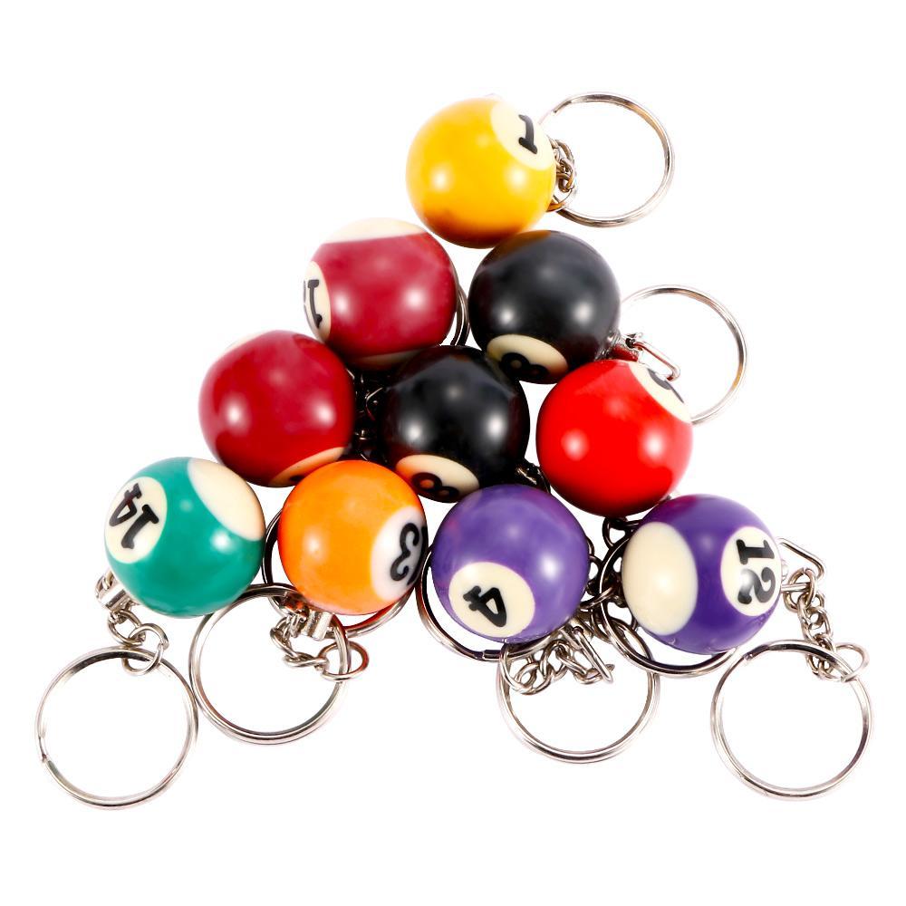1Pc Portachiavi a forma di palla da biliardo creativo Biliardo Snooker Portachiavi regalo personalizzato donne ragazze borsa pendente gioielli di compleanno