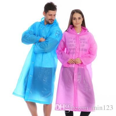 EVA Thickness Outdoor Raincoat Fashion Men Women Tour Rain Coat Unisex Adult Waterproof Travel Poncho Solid Camping Rainwear