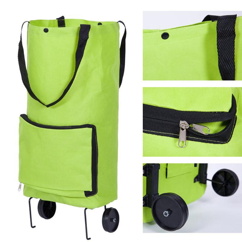 Hot Sale Foldable Trolley Wheel Bag Shopping Portable Cart Folding For Home Travel Luggage TY