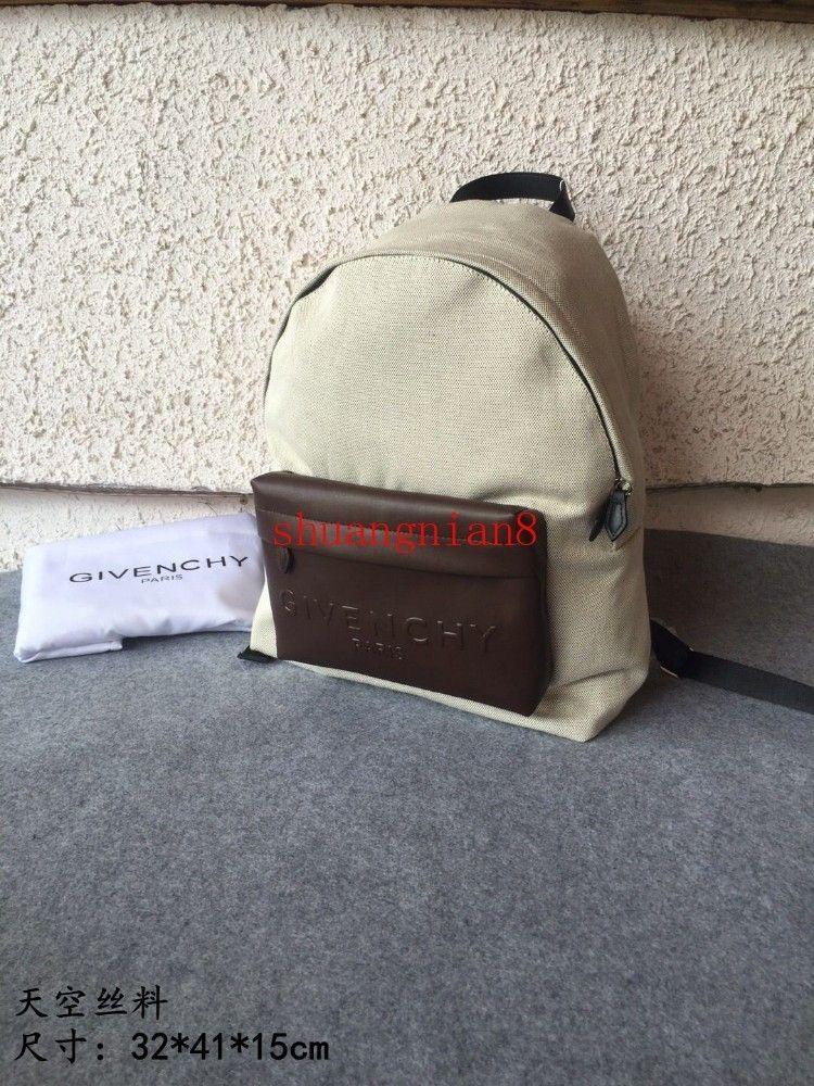 Backpack male space detail leather handle Adjustable shoulder strap Contrast color Comfortable off-w1624