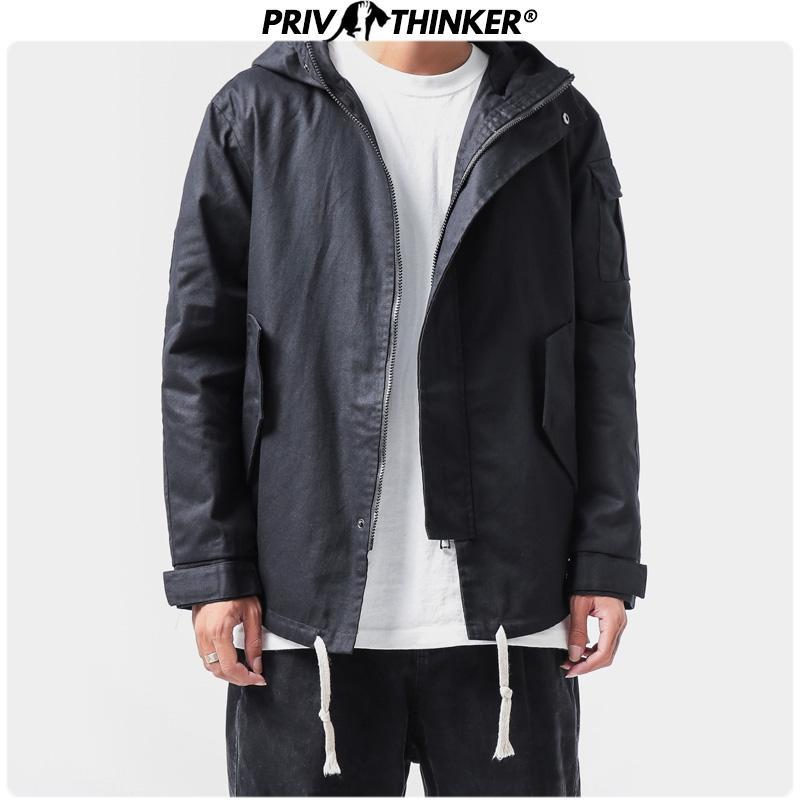 Uomo Primavera giapponese Hip Hop Giacche 2020 uomo con cappuccio giacca mimetica Casual Male Streetwear Zipper Outwear