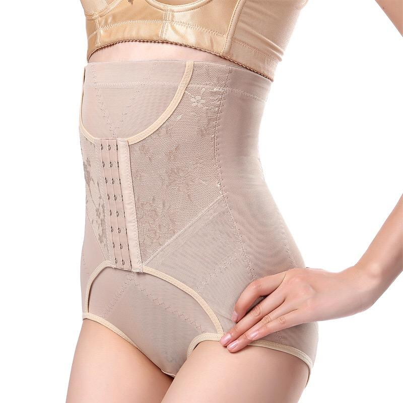 atacado cintura instrutor Controle Calcinhas Mulheres Corpo Shaper elástico inferior Bundas Lifter cintura alta emagrecimento Underwear 3 linhas ganchos 1015