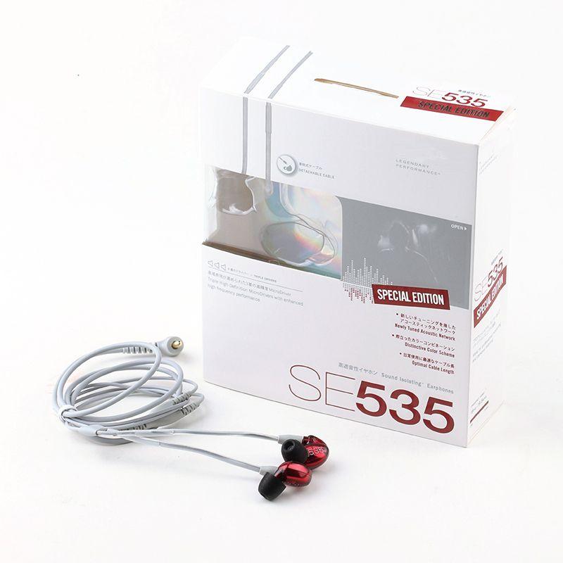 SE535 Fones De Ouvido In-Fones De Ouvido SE535 Fones De Ouvido Com Fios Fones De Ouvido HIFI ruído cancelando fones de ouvido com o logotipo do pacote varejista V Best