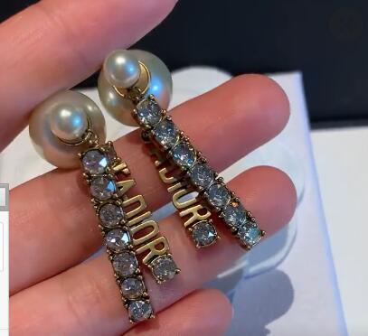 Nouveau Rétro Lettres Avec Diamants Stud Mode Boucles D'Oreilles Bijoux Pour Les Femmes Bijoux De Mariage Avec La Boîte Livraison Gratuite