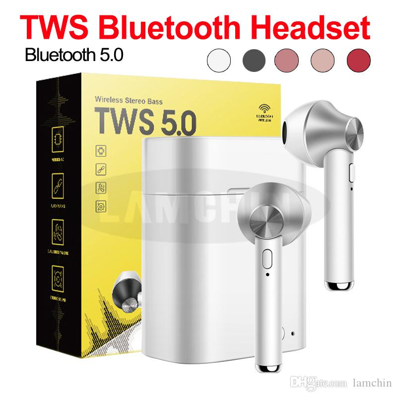 D012A Wireless Bluetooth Earphone Stereo Earbuds Handsfree Handset Bluetooth 5.0 with charger box with Retail Package