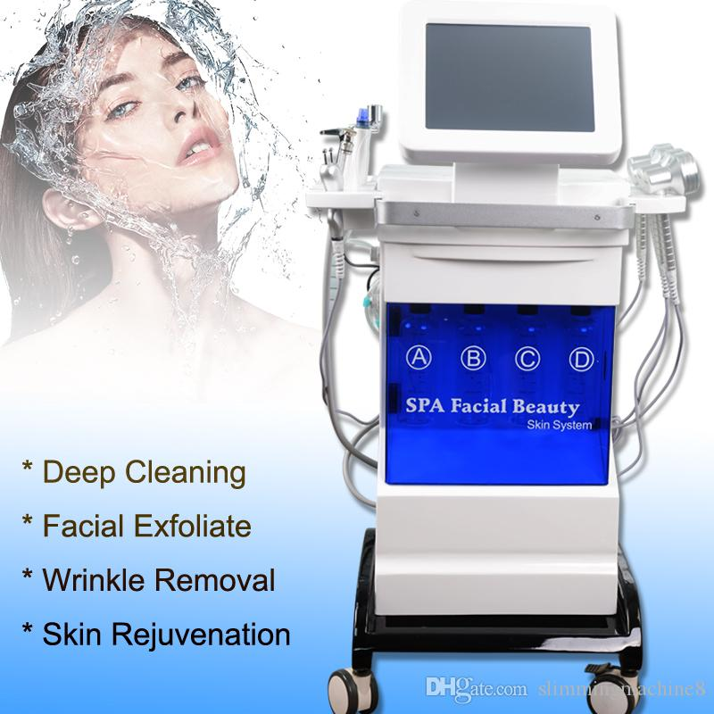 قشر آلة اللوازم الطبية الماس البثرة شفط فراغ إزالة هيدرا المعدات جلدي وجه ثنائي القطب RF العناية بالبشرة رفع