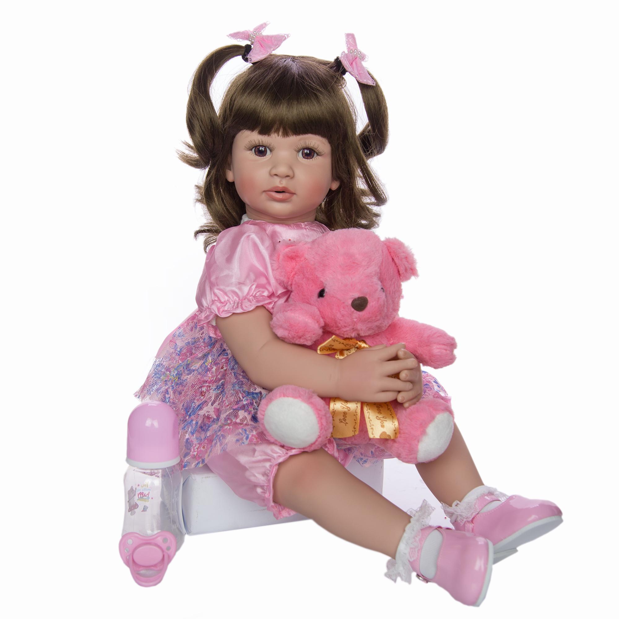 KEIUMI 24 بوصة دمى تولد من جديد 60cm قطعة قماش الجسم المولودة الرضع لعبة الأميرة Boneca دمية طفل للبيع طفل هدية عيد ميلاد جمع MX200414