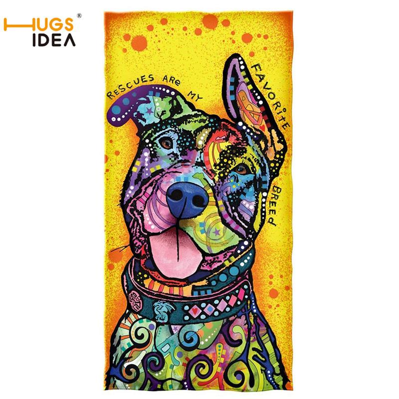 wholesale Warmer Soft Bath Shower Towels Dean Russo Rescues are My Favorite Breed Cotton Beach Towel Large Thick Yoga Blanket