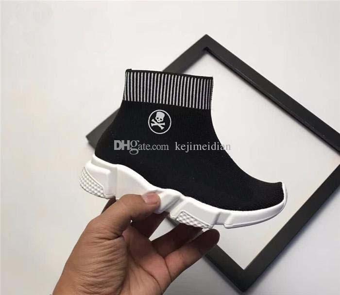 Home Baby، Kids Maternity Shoes Athletic Outdoor تفاصيل المنتج 2019 أحذية الجري الفخمة من سوك سبيد رنر ، أسود وأحمر
