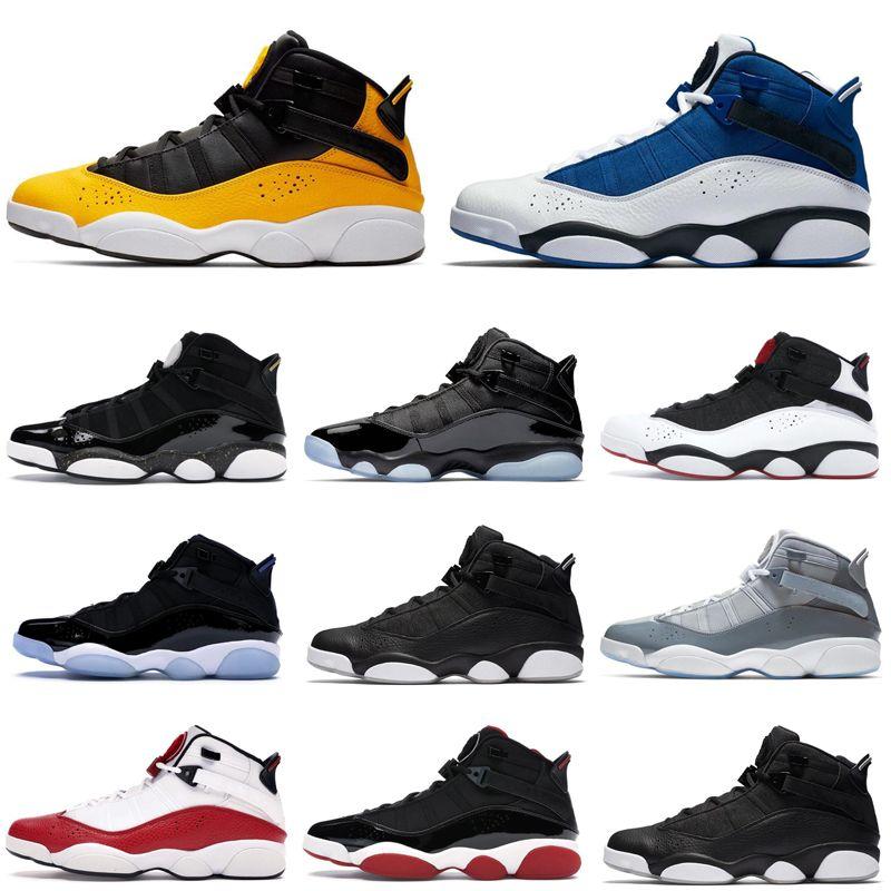 6 anillos zapatos de baloncesto de los hombres seis taxi criado negro hielo fresco gris concord entranadores para hombre zapatillas deportivas 7-13
