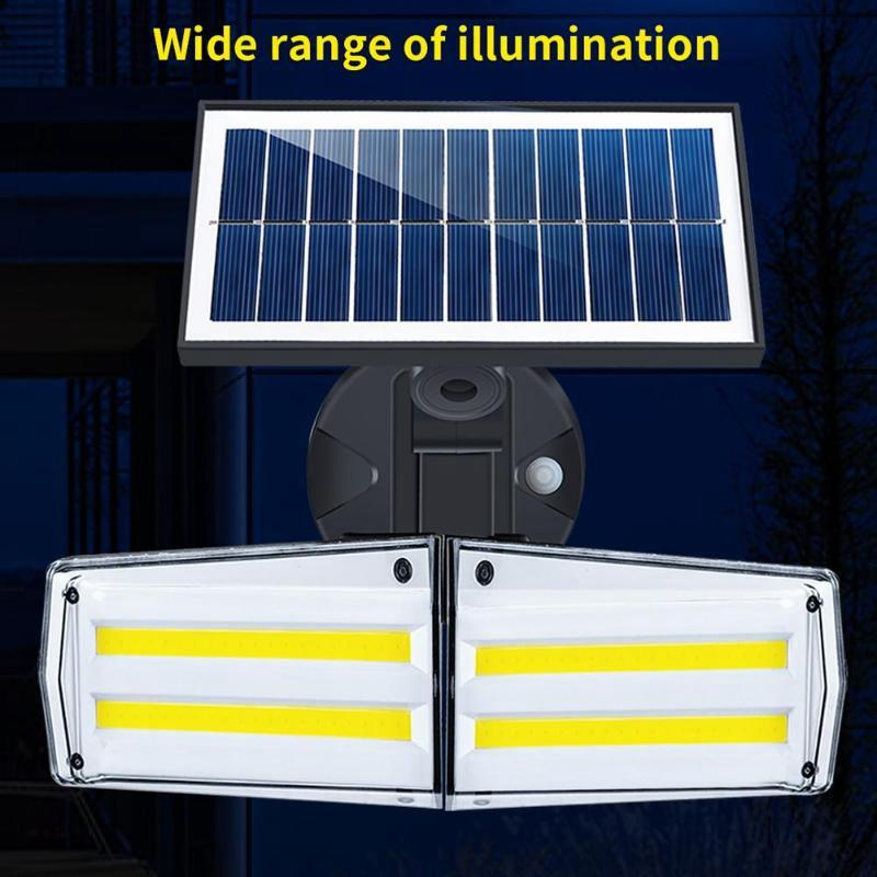 Umlight1688 80 LED COB 20W Solarlicht im Freien wasserdichten Infrarot-PIR Bewegungs-Sensor-Wandleuchte Drehbare Solarlampe Kopf-Garten-Licht