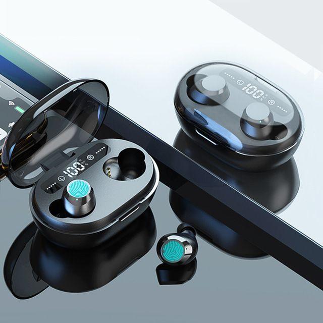 CONSUMATORI Elettronica TWS 5.0 Bluetooth cuffia 3D stereo senza fili auricolare con microfono dual LED Digital Banca di potere di riduzione del rumore H ...