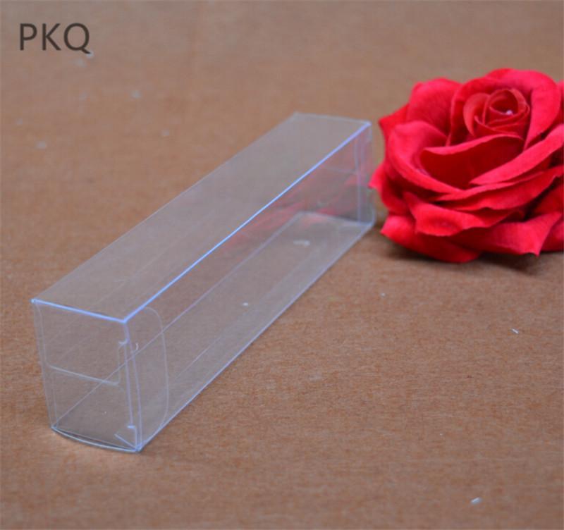 25PCS مستطيل واضح PVC مربع من البلاستيك التعبئة والتغليف الزفاف / عيد الميلاد لصالح كاندي حزب هدية مربع / شمعة / الجاف لعب الفاكهة
