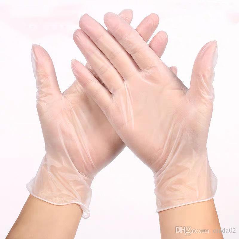 قفازات PVC واضحة واقية المتاح شفافة قفازات واقية PVC الأيدي قفافيز المنزلية حماية عالية الجودة بالجملة