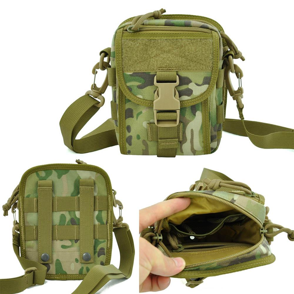 Multi-Purpose Tactical shoulder bag Molle Waist Pack Nylon Utility Tool Holder Pouch For Camping Hiking outdoor sport bag