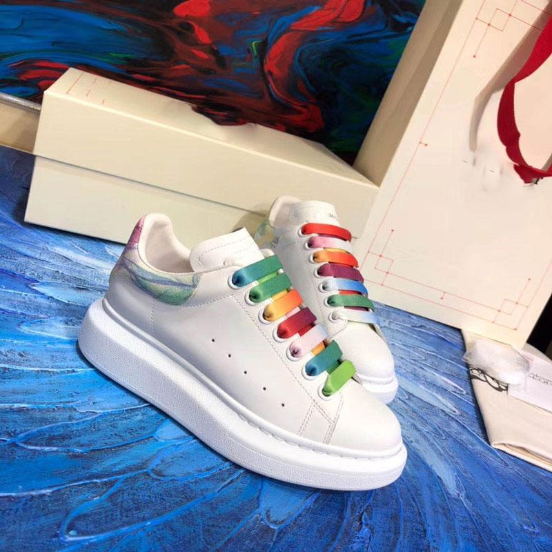 Com Box 2020 Chaussures Piet Parra Branco multi-íris Designer Mulheres Homens Running Shoes Marca sapatilhas das mulheres dos homens de treinadores desportivos sapatos