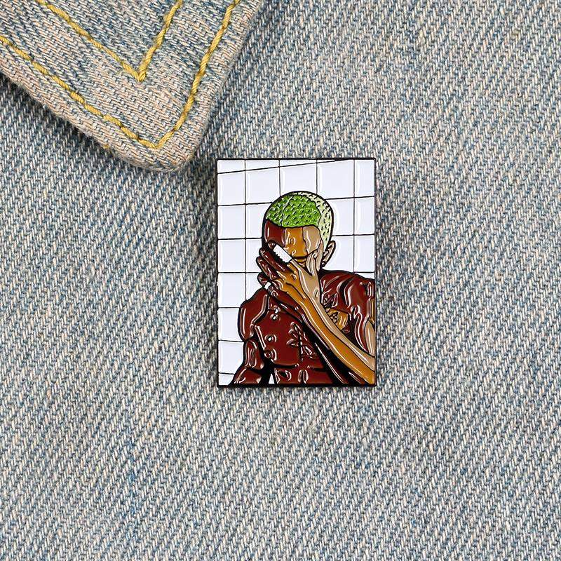 Singer album enamel pin brooches for women injured man star badges Frank Ocean Lapel pin clothes Jackets backpack Jewelry gift for friend