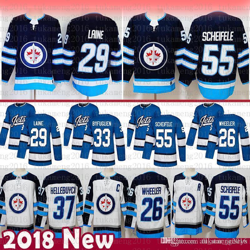 Jets de Winnipeg à bas prix 26 Blake Wheeler Hockey Jersey 29 Patrik Lainé 33 Dustin 37 Connor 55 Mark Scheifele Hellebuyck Maillots 5202