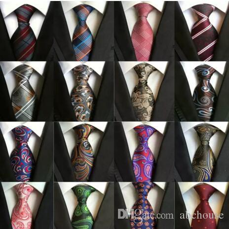 216 Styles 8cm Männer Seidenkrawatte Mode-Männer Krawatten Handgemachte Hochzeit Krawatte Geschäfts Krawatten England Paisley Krawatte Stripes Plaids Dots Krawatte
