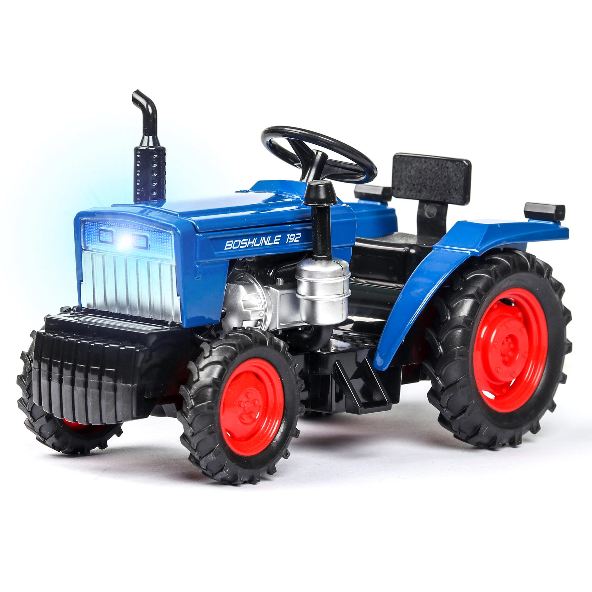 (Boxed) simulation dedicated tractor bags open children's toys sound and light alloy car models 1:32 Wholesale Farm