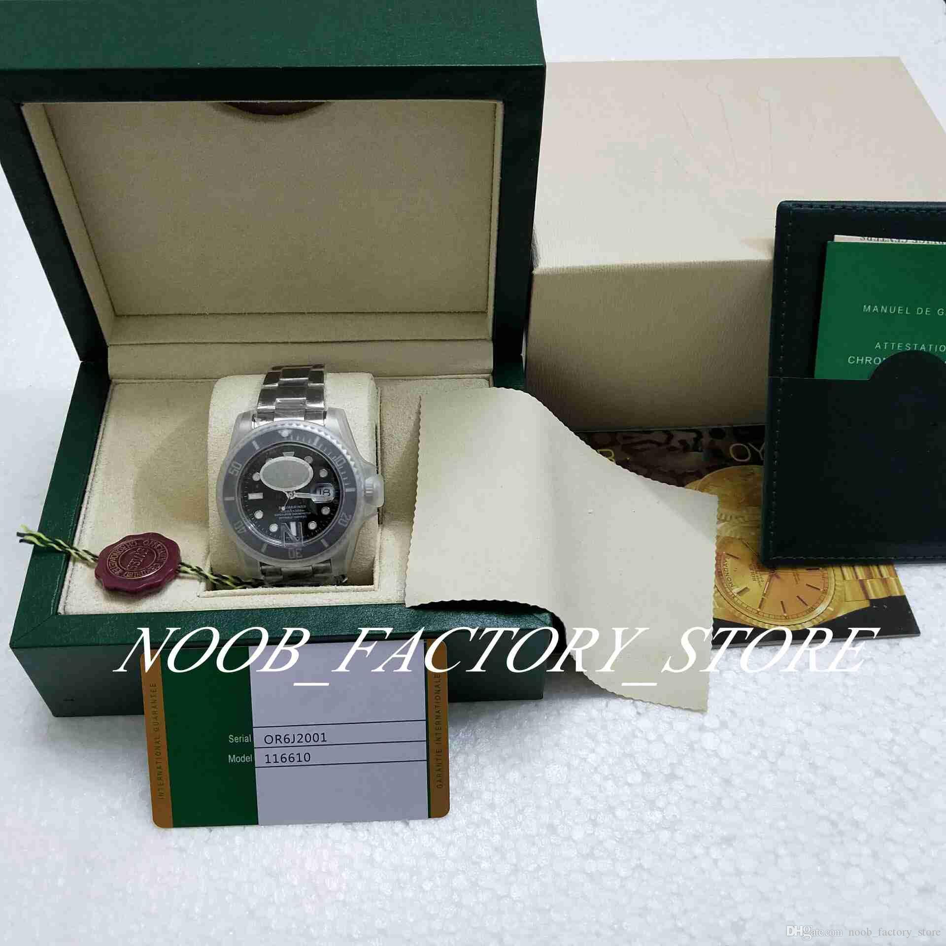 Meilleur n usine V5 Version 3 Style 2813 Montre Mouvement Black 40mm Bezel Céramique Bezel Saphir Diving Men Watch Watchs New Style Boîte