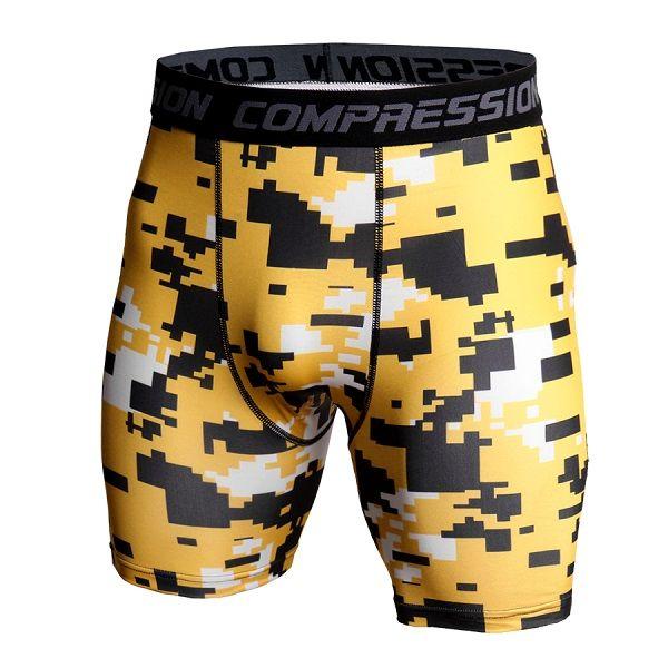 Herren Fitnessstudio Shorts Pro Quick-dry Sportswear Laufen Bodybuilding Haut Sport Training Fitness Compression Shorts mit Com