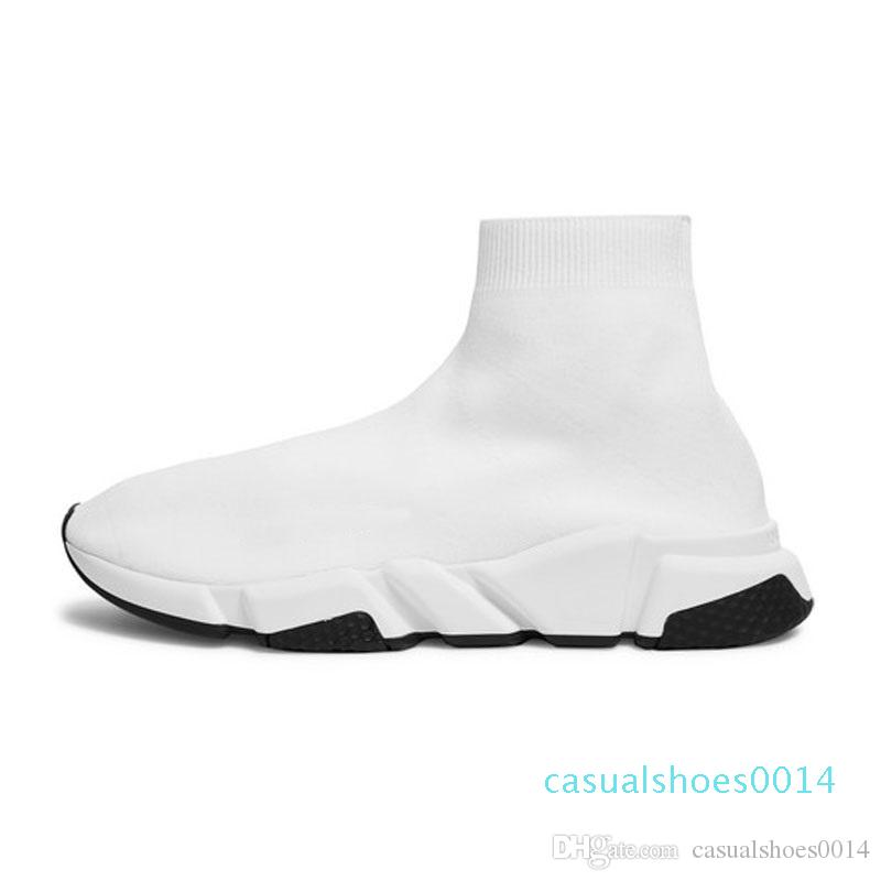 2019 Yeni Arrivlas Kırmızı Üçlü Siyah Düz Casual ayakkabılar Çorap Erkek Ayakkabı C14 kapalı luxurys İçin Kadın Erkek Hız Trainer tasarımcıları