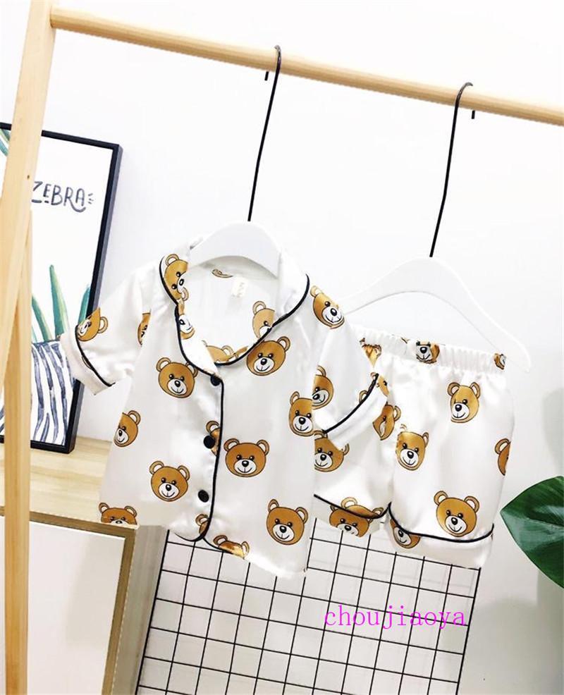 بنين قصيرة الأكمام منامة 2PCS اطفال ملابس Pijamas مجموعات الملابس رياضية للأطفال الأطفال أزياء تصاميم الملابس