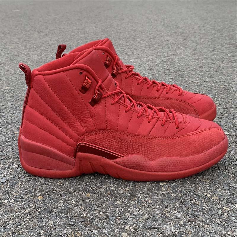 TOP Bulls Basketball Shoes 12s All Red Christmas Gifts Fahion New Designer Brand Mens Athletic Sports Sneakers Size 8-12