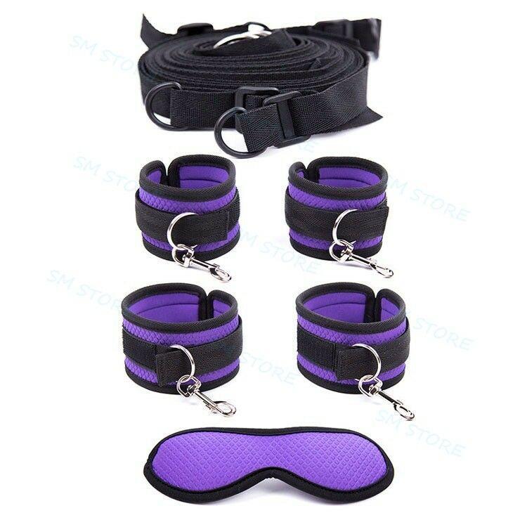 Bondage Kit Strap System Blinder Ankleecuffs Bettbeschränkungen AU54 Handschellen unter Set WQTkh