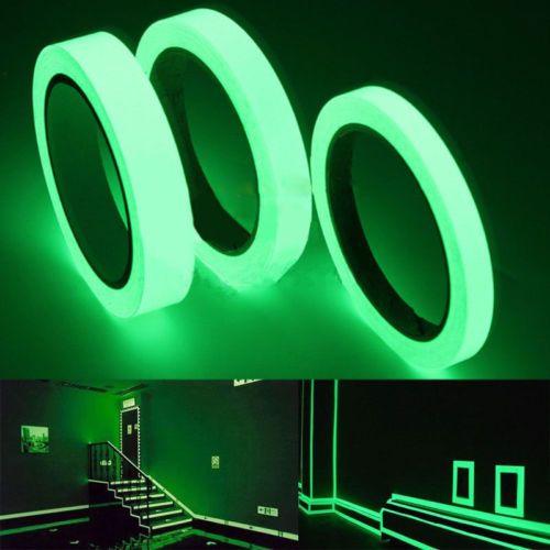 Ruban lumineux auto-adhésif PET Avertissement Bande de vision nocturne Glow In Dark Wall Sticker fluorescent autocollant d'urgence
