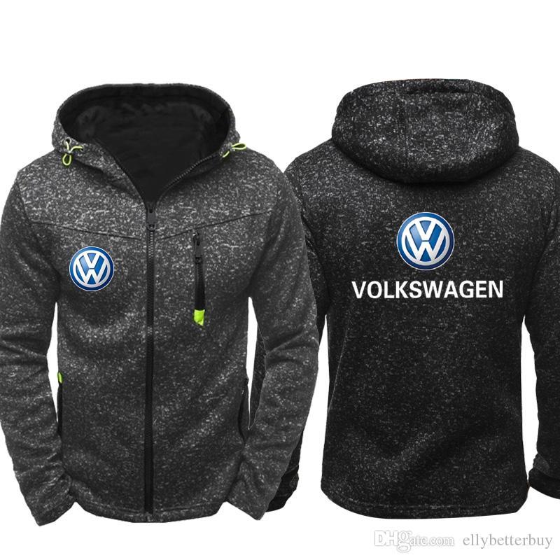 lo último 1d151 2d0f5 Compre VW Men Sports Casual Wear Sudaderas Con Cremallera Moda Marea  Jacquard Otoño Volkswagen Logo Sudaderas Primavera Otoño Chaqueta Abrigo  Chándal ...