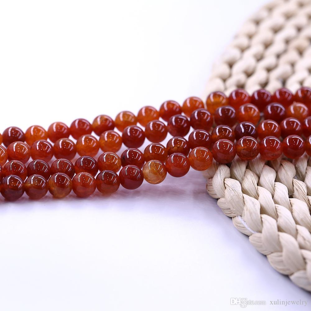 Red Frost Fire Agate Bead hilo de 15 pulgadas por juego Round Lose Bead Manufacturer 15 pulgadas strand por juego