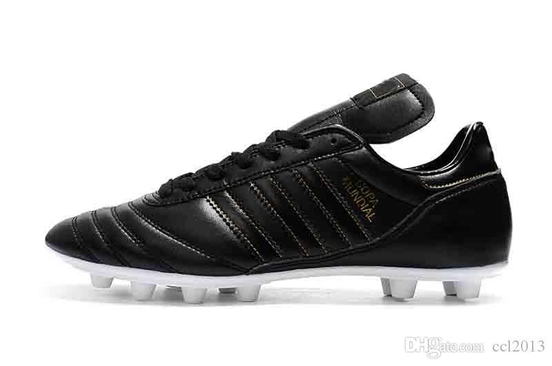 2020 En İyi Kalite Deri Düşük Futbol Copa Mundial FG Futbol Boots Erkek Açık Copa Mundial Futbol Profilli Siyah Ayakkabı