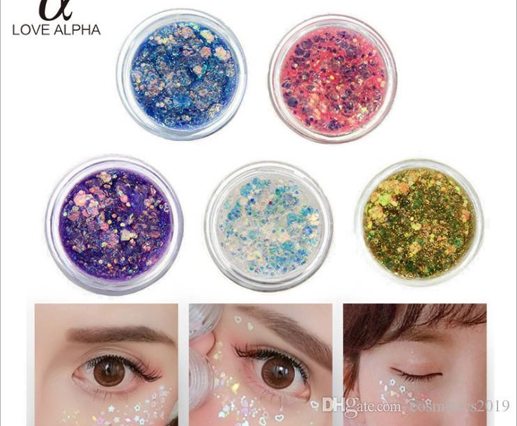 Блестки желе гель этап макияж глаз монохромные тени для век жемчужный свет подсветка золотой лук блеск порошок