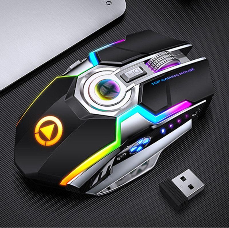 A5 Аккумуляторная беспроводная Mise 7-Key 1600dpi Gaming Mouse Dedicated 2,4 Mute Тихая Управление Мышь подходит для различных видео игр