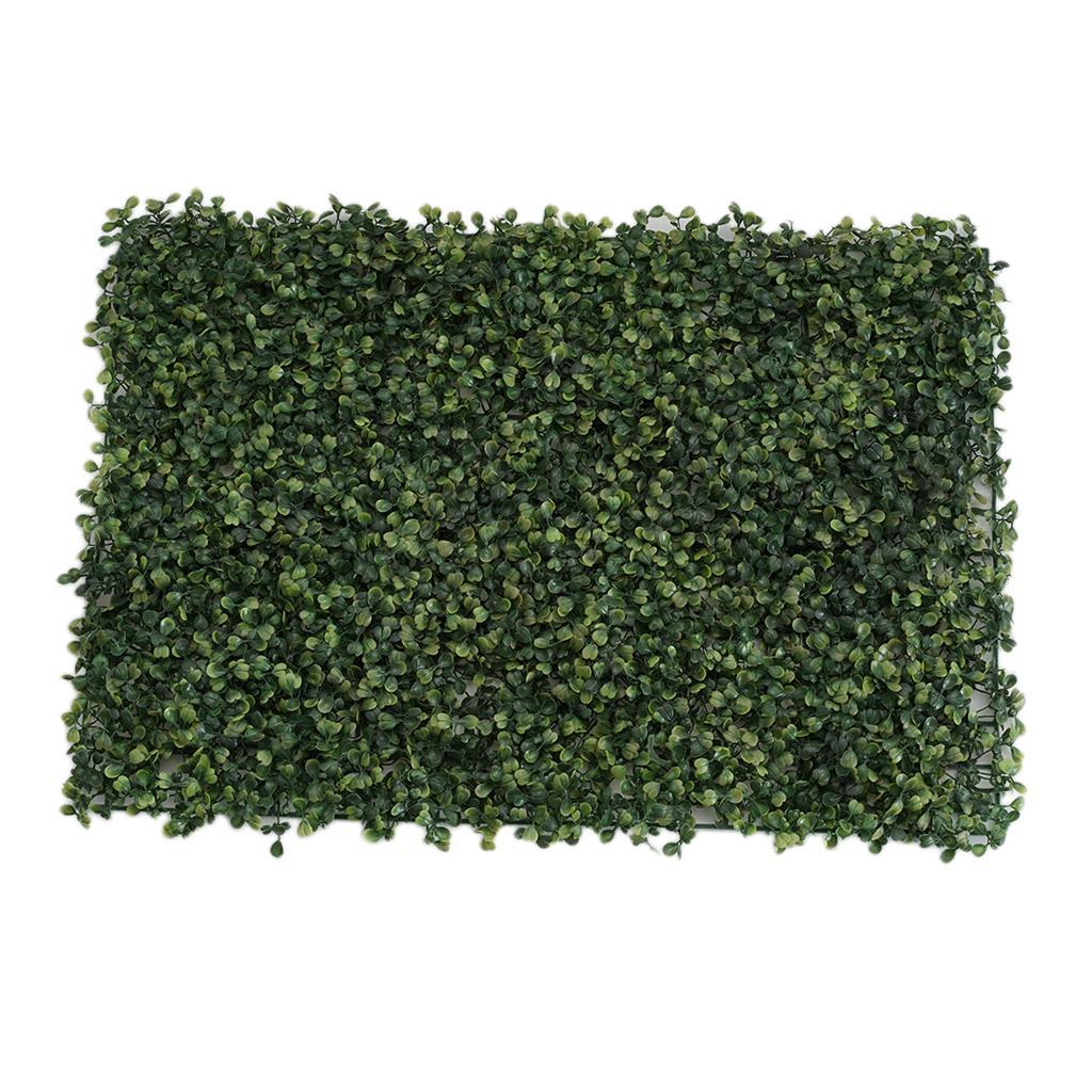 Pack of 2 Planta artificial Painel de parede da grama Folhagem Turf, Wedding Venue Loja Janela Decor, 60x40cm