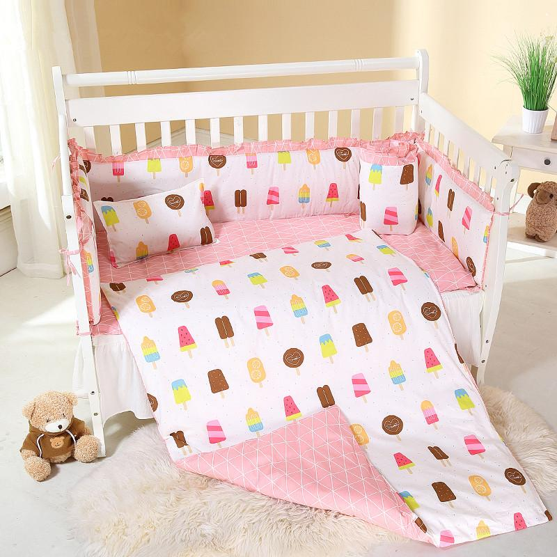 6/9pcs baby nursing bedding set pillow girls bedroom Kids Room Decor baby bed fence 120*60/120*70cm