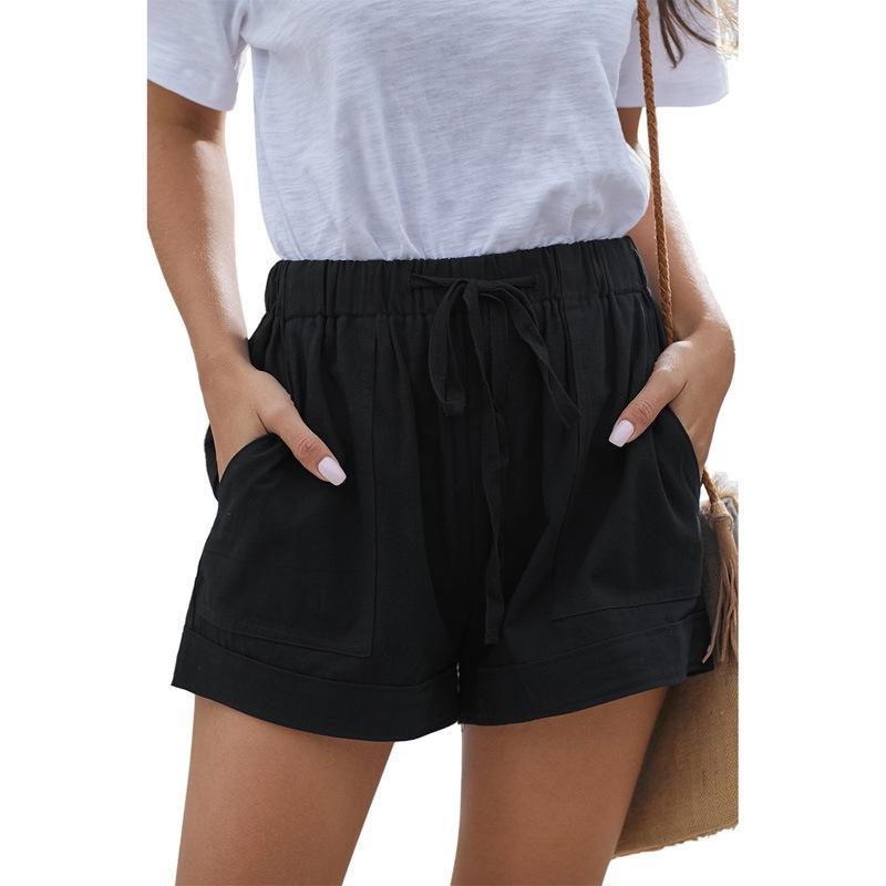 2020 New Verão 100% Joelho Cotton linho Shorts Mulheres Qualidade Comprimento Casual Womens Shorts respirável frescas sentem Curto Mulheres Cx200603 # 172