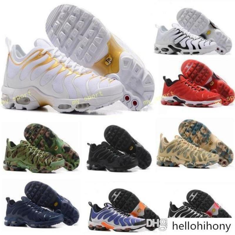 Tn zapatos corrientes para los hombres mujeres niños Negro Rojo Blanco tn Ultra KPU Cojín de superficie zapatillas Trainer tamaño de los zapatos 36-46