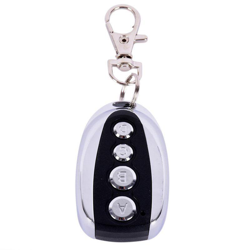 Remote Control 4 Buttons Cloning Gate For Electric Garage Door Car Alarm Products Keychain 433 Mhz