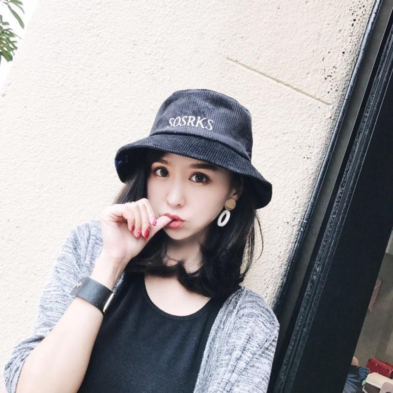 GLOGLOW Bucket Hat Fashion Corduroy Cap Fisherman Bucket Hat