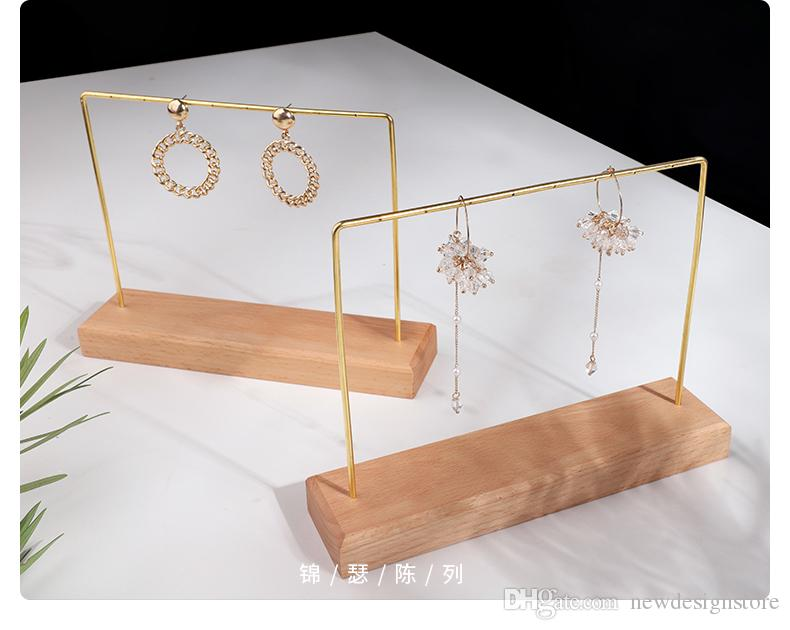 2020 Wholesale Earring Holder Cheap Price Jewelry Stand Fashion New Design Wooden Necklace Display Pendant Holder Bracelet Stands 19 07 26 From Newdesignstore 21 71 Dhgate Com