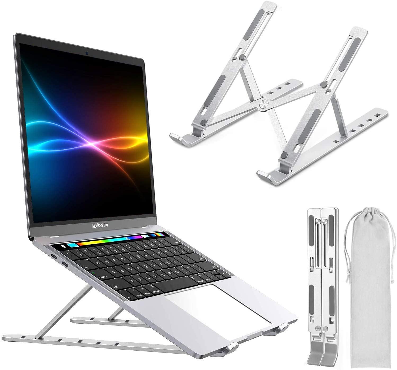 """Laptop Stand, stand portátil ajustável Tablet Computador, Suporte liga de alumínio Folding Laptop Compatível Mais 10-15,6"""" Laptops Tablet (Silver)"""